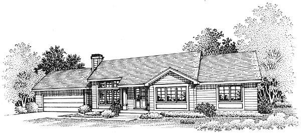 Ranch House Plan 88233 Elevation