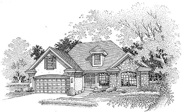 Traditional House Plan 88235 Elevation