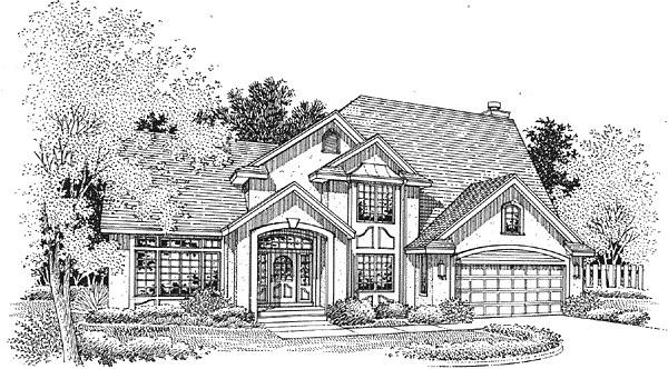 European House Plan 88236 Elevation