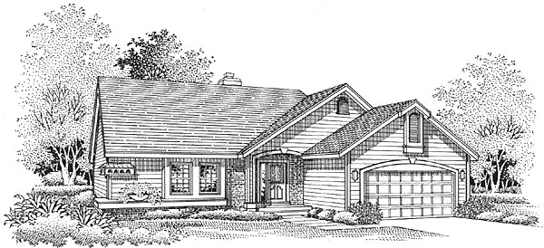 Ranch House Plan 88237 Elevation
