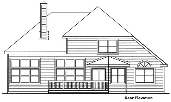 Traditional House Plan 88238 Rear Elevation