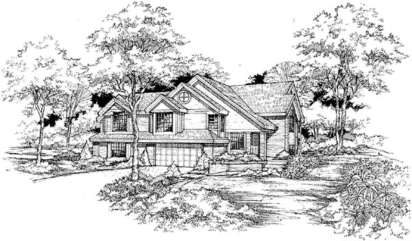 Traditional Multi-Family Plan 88244 Elevation