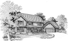 Traditional House Plan 88249 Elevation