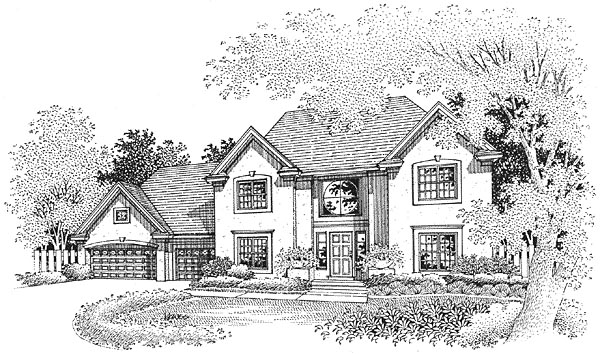 European House Plan 88250 Elevation