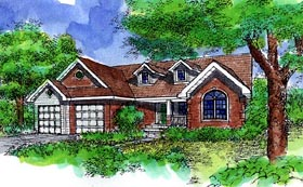 Traditional House Plan 88254 Elevation