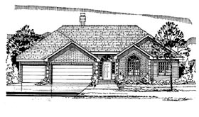 European Traditional House Plan 88316 Elevation