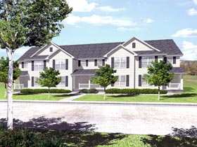 Multi-Family Plan 88318 | Traditional Style Plan with 5132 Sq Ft, 12 Bedrooms, 8 Bathrooms Elevation