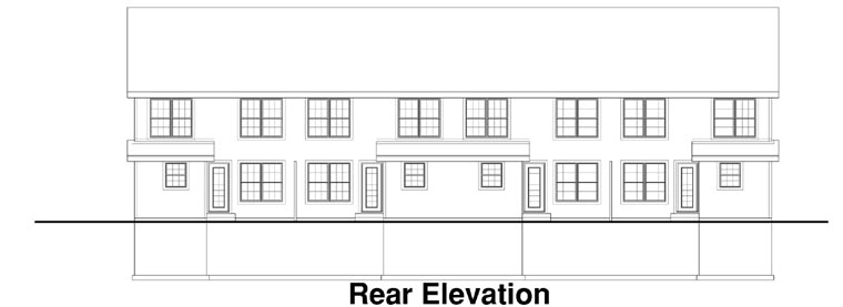 Traditional Multi-Family Plan 88318 Rear Elevation