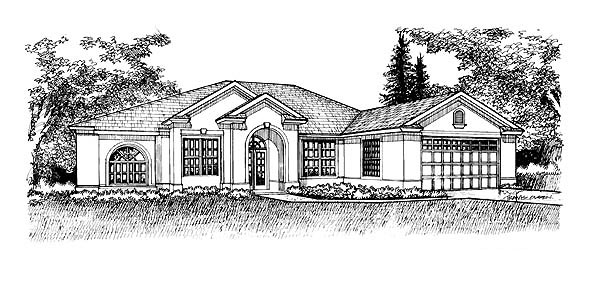 Florida Mediterranean House Plan 88396 Elevation