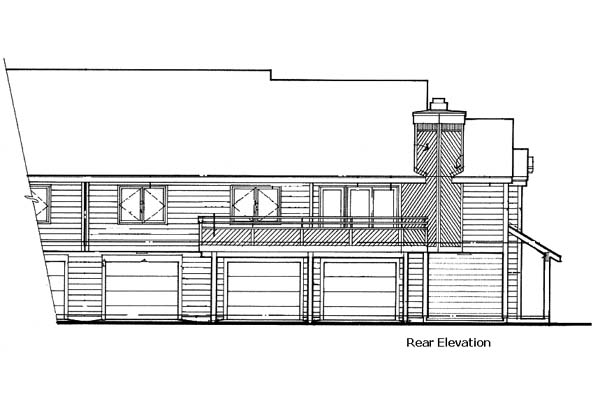 Traditional Multi-Family Plan 88402 Rear Elevation