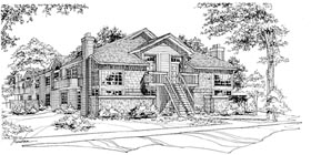 Multi-Family Plan 88403 | Traditional Style Plan with 7240 Sq Ft, 16 Bedrooms, 8 Bathrooms Elevation