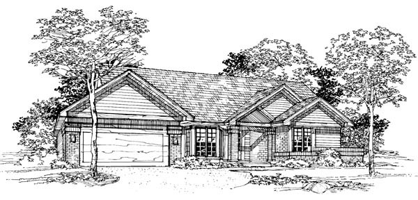 Ranch House Plan 88414 Elevation