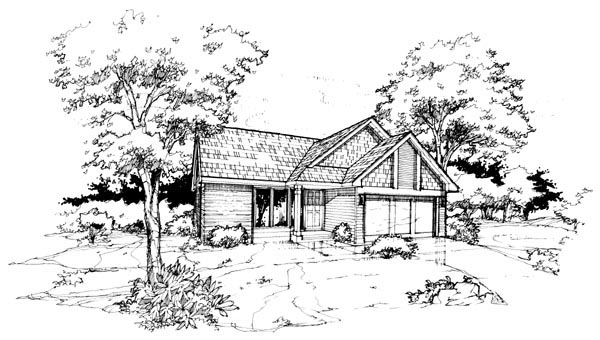 House Plan 88422 Elevation