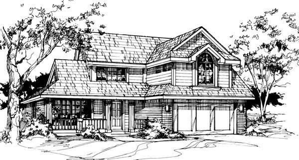 Country Farmhouse House Plan 88427 Elevation