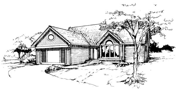 Ranch House Plan 88428 Elevation