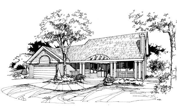 Traditional House Plan 88433 Elevation