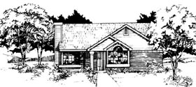 Ranch House Plan 88440 Elevation