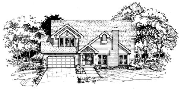 Country House Plan 88444 Elevation