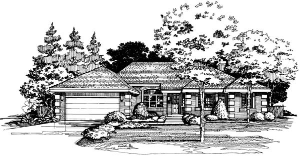 Traditional House Plan 88445 Elevation
