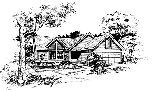 Ranch House Plan 88448 Elevation