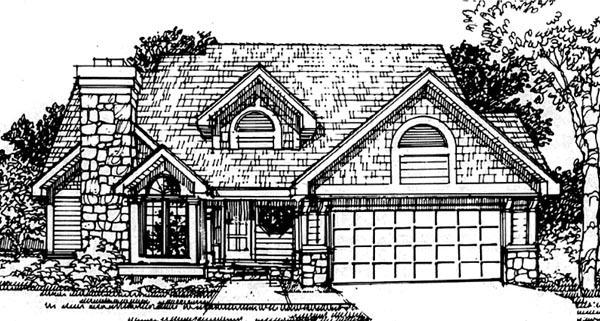 Traditional House Plan 88450 Elevation