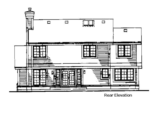 Traditional House Plan 88450 Rear Elevation