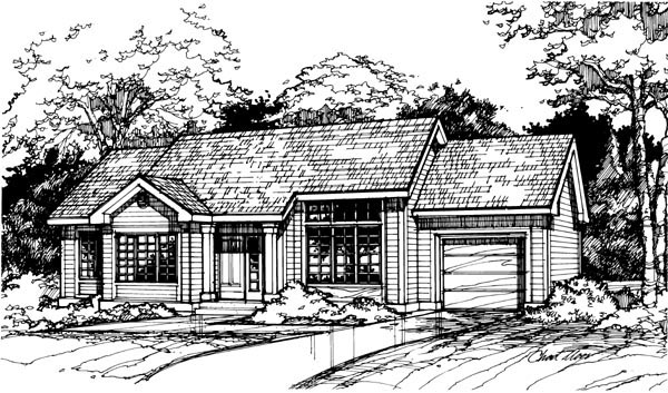 Ranch House Plan 88461 Elevation