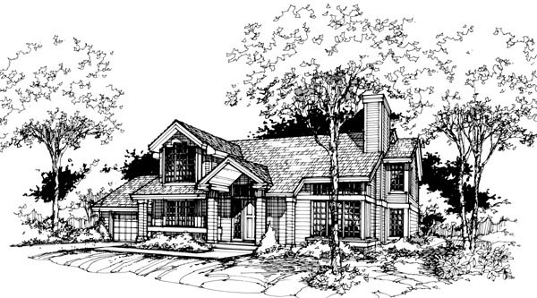 Contemporary Traditional House Plan 88462 Elevation