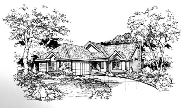 Traditional House Plan 88466 Elevation