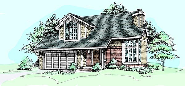 Traditional House Plan 88485 Elevation
