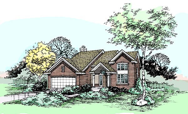 Traditional House Plan 88492 Elevation