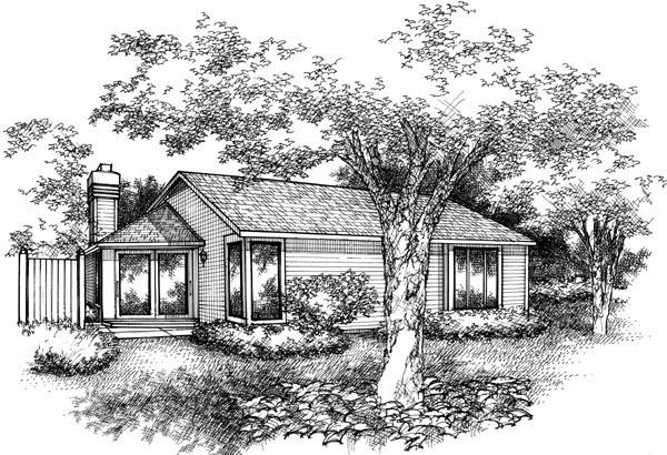 Ranch House Plan 88497 Rear Elevation