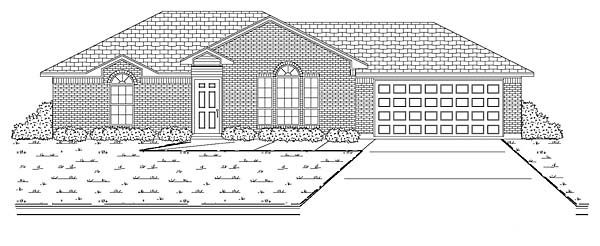 Traditional House Plan 88600 with 2 Beds, 1 Baths, 2 Car Garage Front Elevation