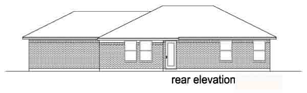 Traditional House Plan 88600 with 2 Beds, 1 Baths, 2 Car Garage Rear Elevation
