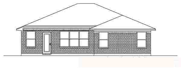 Traditional House Plan 88603 Rear Elevation