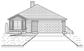 Traditional House Plan 88607 Elevation