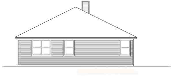 Traditional House Plan 88607 Rear Elevation