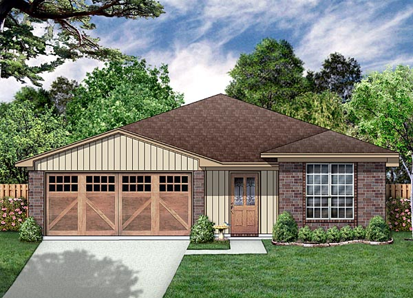 Traditional House Plan 88609 with 3 Beds, 2 Baths, 2 Car Garage Elevation