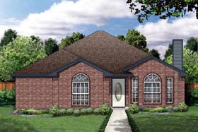 Traditional House Plan 88611 with 3 Beds, 2 Baths, 2 Car Garage Elevation