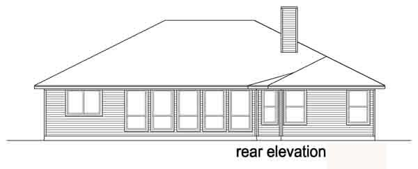 Traditional House Plan 88612 Rear Elevation