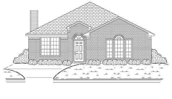Traditional House Plan 88614 Elevation