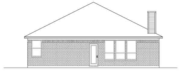 Traditional House Plan 88614 Rear Elevation