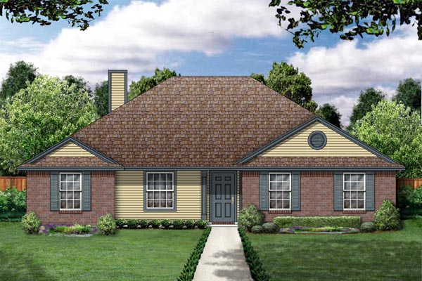 Traditional House Plan 88615 with 3 Beds, 2 Baths, 2 Car Garage Elevation