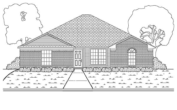 European Traditional House Plan 88616 Elevation