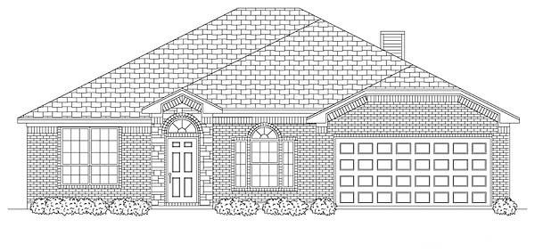 European Traditional House Plan 88618 Elevation