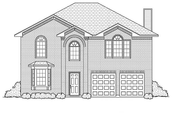 Traditional House Plan 88620 with 4 Beds, 3 Baths, 2 Car Garage Elevation