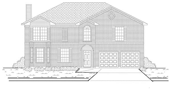 Traditional House Plan 88621 Elevation