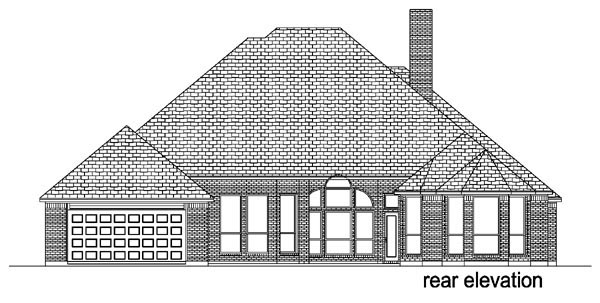 European Traditional House Plan 88624 Rear Elevation