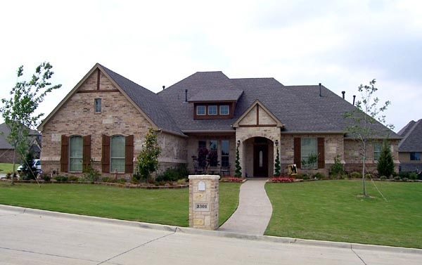 European, One-Story, Tudor House Plan 88629 with 4 Beds, 4 Baths, 3 Car Garage Elevation