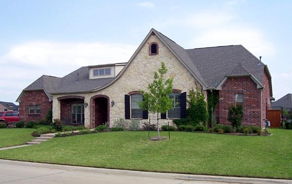 European, One-Story House Plan 88630 with 4 Beds, 4 Baths, 3 Car Garage Elevation